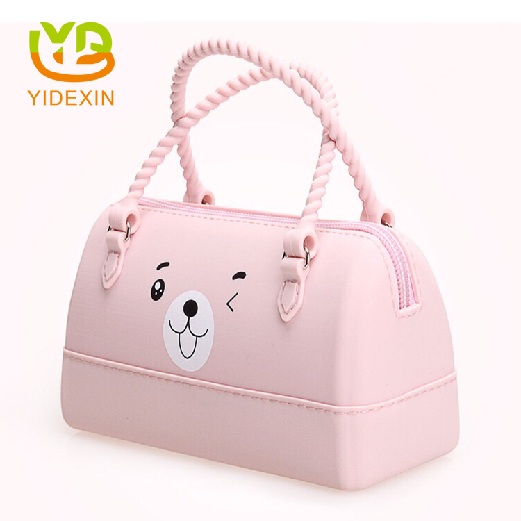 Jelly Pink Color Silicone Ladies Purses