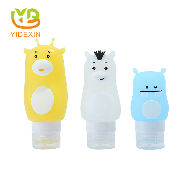 Silicone travel size refillable bottles