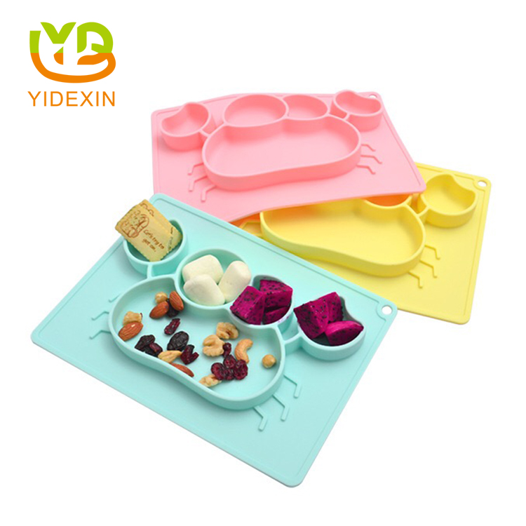 Whale silicone baby table placemat
