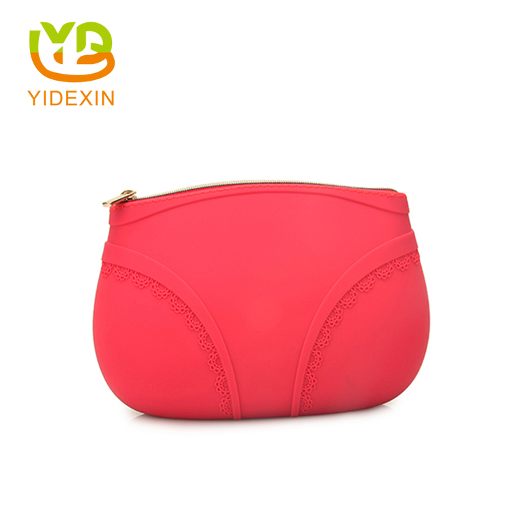Waterproof silicone makeup bag