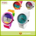 Top Selling Lovely Girl's Rainbow Watches Lady Watch Silicone