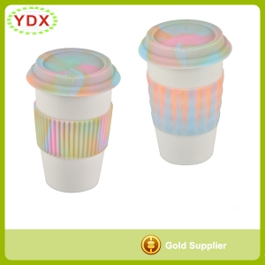 Silicone Cup Sleeve With Lid