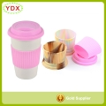 Personalized Logo Branded Promotional Silicone Cup Sleeve With Silicone Cup Lid