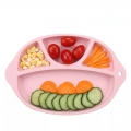 Food Grade Custom Shape Kids Dinner Divided Plate Silicone