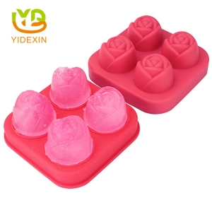 DIY Rose Shape Silicone Ice Cube Mold