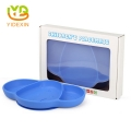 Modern Children Dinner Elephant Silicone Placemats with Food Grade PP Lid