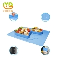 Suction Design Silicone Baby Feeding Placemat & Plate Tray for Kids Toddlers