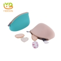 2018 latest fashion travel silicone makeup bag with lining