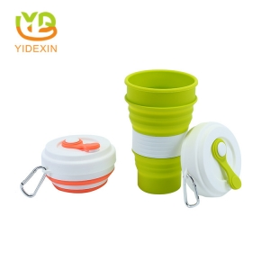 550ML Silicone Reusable Coffee Cup with Lid